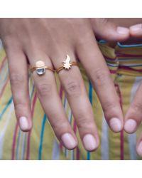 Bark | Metallic Gold Twilight Ring | Lyst