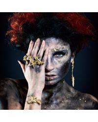 Loveness Lee - Metallic Pengyan Chunky Gold Textured Ring - Lyst