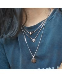 Aletheia & Phos Metallic Baby Girl Necklace Silver