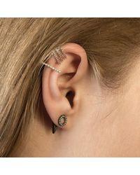 Astrid & Miyu Metallic Circle Ear Jacket In Silver