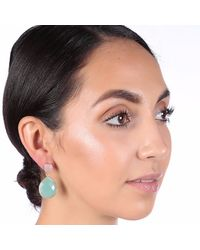 Carousel Jewels - Multicolor Rose Quartz & Aqua Chalcedony Double Drop Earrings - Lyst