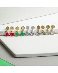Auree Jewellery   Metallic Salina Gold Vermeil Disc & Chrysoprase Green Earrings   Lyst