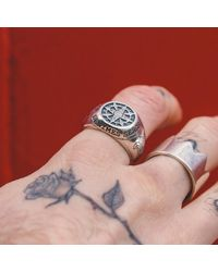Serge Denimes - Metallic Napoleon Ring for Men - Lyst