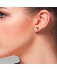 Latelita London | Multicolor Diamond Pyramid Oxidised Earring | Lyst