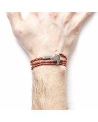 Anchor & Crew - All Red Bruce Rope Bracelet for Men - Lyst