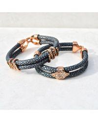 Opes Robur | 18k Grey Stingray Bracelet | Lyst