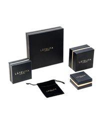 Latelita London - Multicolor Stingray Cuff Gold Orange White Cz - Lyst