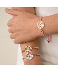 Hoochie Mama - Metallic Daffodil Medallion Friendship Bracelet - Lyst