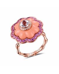JAMES GANH | Pink Ring Pendant Coral | Lyst