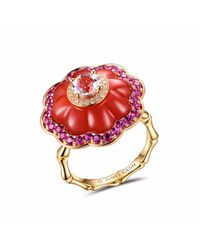 JAMES GANH | Ring Pendant Red | Lyst