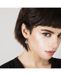 Muscari Jewellery - Metallic Half Clear Moon Long Earrings - Lyst