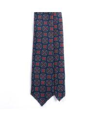 EZRA AMARFIO - Blue Medallion Print 36oz Madder Silk Tie for Men - Lyst