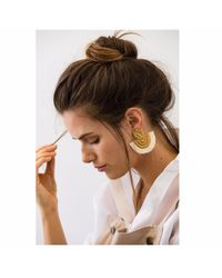 Wafa By Wafa - Multicolor Cream Carissa Earrings - Lyst