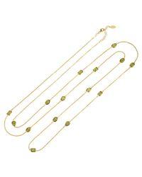Latelita London - Metallic Venice 120cm Long Chain Necklace Gold Peridot - Lyst