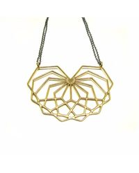 Dream of Songs - Metallic Abstract Heart Necklace Brass - Lyst