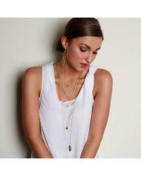Alicia Marilyn Designs - Metallic Heart Necklace Gold - Lyst