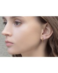 S/H KOH - White Discreet Round Diamond Earring - Lyst