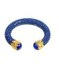 Latelita London - Stingray Bangle Royal Blue & Lapis - Lyst