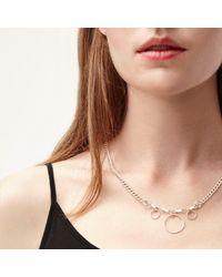 Alison Fern Jewellery - Metallic Jackson Hanging Silver Circles Necklace - Lyst