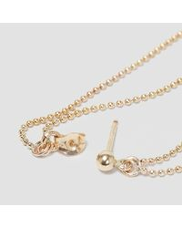 Alice Eden - Metallic Gold Ball Chain Double Loop Earrings - Lyst