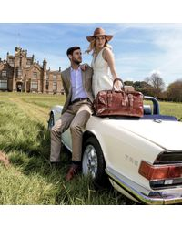 Maxwell Scott Bags | Brown Luxury Italian Leather Medium Travel Bag Flero M Chestnut Tan | Lyst