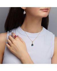 Dione London - Metallic Celeste Labradorite Trigon Pendant - Lyst