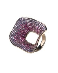 Latelita London - Multicolor Temptress By Night Statement Cocktail Ring - Lyst
