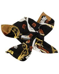 Valentina Avramides Black Silk Satin Scarf 'the Night Hour'