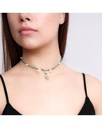 Xanthe Marina - Metallic Heart Cross Necklace - Lyst