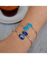 Jiya Jewellery | Metallic Gold And Amazonite Cuff | Lyst