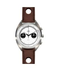 MHD Watches | Multicolor Mhd Cr1 Panda Dial Chronograph Watch With Brown Strap for Men | Lyst