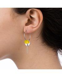 Nadia Minkoff Multicolor Hoop Cluster Earrings Silver Yellow