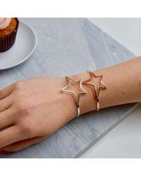 Jiya Jewellery - Metallic Falling Star Cuff Rose Gold - Lyst