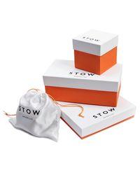 Stow   Soft Leather Sanderson Cufflink Box Smoky Quartz Brown & Pale Orange for Men   Lyst