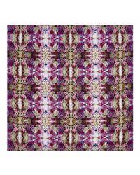 Pam Weinstock London - Purple Palazzo Di Fiori Slk Scarf - Lyst
