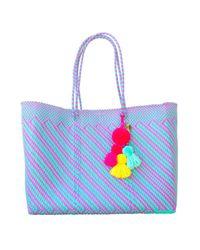 Soi 55 Multicolor Recycled Plastic Beach Bag Amora