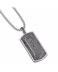 LMJ - Multicolor Fossil Agate Stone Tag for Men - Lyst