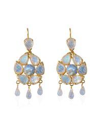 Emma Chapman Jewels White Coachella Moonstone Chandelier Earrings