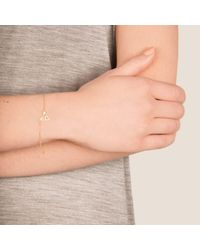 Dutch Basics - Metallic Hef Fine Chain Bracelet Rose Gold - Lyst