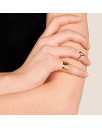Dutch Basics - Metallic Ruit Adjustable Knuckle Ring Small Gold - Lyst