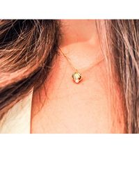 Lee Renee Metallic Gold Double Side Shell Necklace