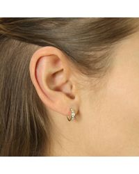 Talia Naomi - Metallic Pavé Eternity Earrings Gold - Lyst