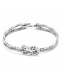 Anchor & Crew | Metallic Grey Dash Foyle Silver & Rope Bracelet for Men | Lyst