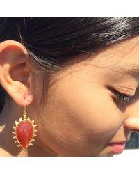Meghna Jewels - Multicolor Claw Carnelian Earrings - Lyst
