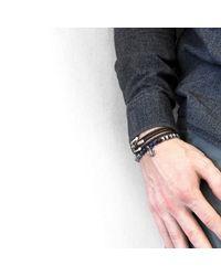 Anchor & Crew - Blue Sodalite Keel Silver & Stone Bracelet for Men - Lyst