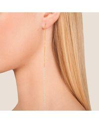 Dutch Basics | Multicolor Interlinked Drop Chain Earrings Stud Rose | Lyst