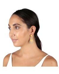 Carousel Jewels Multicolor Turquoise & Crystal Flower Earrings