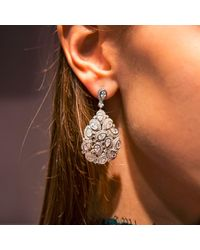 Latelita London - Metallic Peacock Earring Silver - Lyst