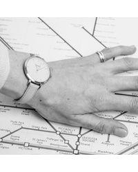 Auree Jewellery - Metallic Montmartre Yellow Gold Watch With Almond & Pale Blue Strap - Lyst