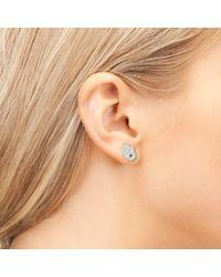 Latelita London - Metallic Hamsa Earring Silver - Lyst